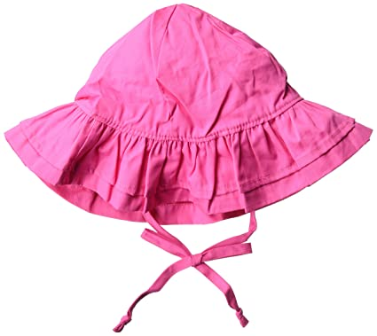 02c007b56d35f Amazon.com  Flap Happy Baby Girls  UPF 50+ Double Ruffle Hat  Clothing