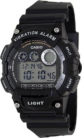 Casio W-735h-1avef Reloj Digital para Hombre Colección Youth Caja De Resina Esfera Color Gris: Amazon.es: Relojes
