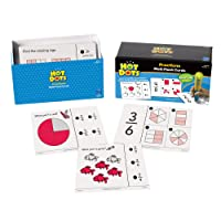 Learning Resources Hot Dots Maths Fraction Practice Cards