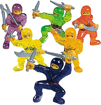 Fun Express - Ninja Warriors (4dz) - Toys - Character Toys - Vinyl Characters - 48 Pieces