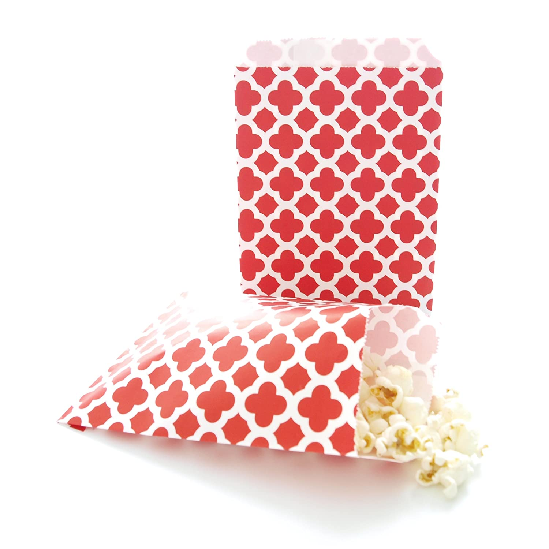 Amazon.com: Red Party Favor Bags, Formal Elegant Spanish Tile Design ...