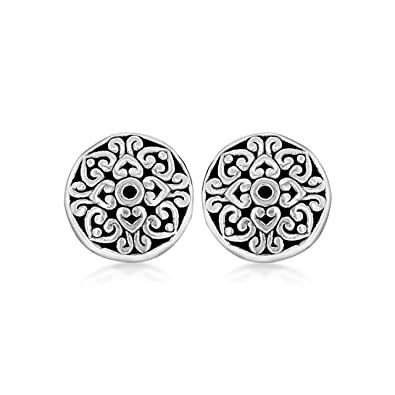 Tuscany Silver Sterling Silver 9mm Flat Celtic Stud Earrings