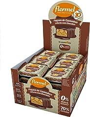 Paçoca de Castanhas Chocolate Zero Flormel 480g (Display com 24 unidades)