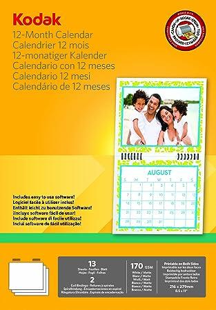 Kodak - calendarios en Papel fotográfico para impresoras de ...
