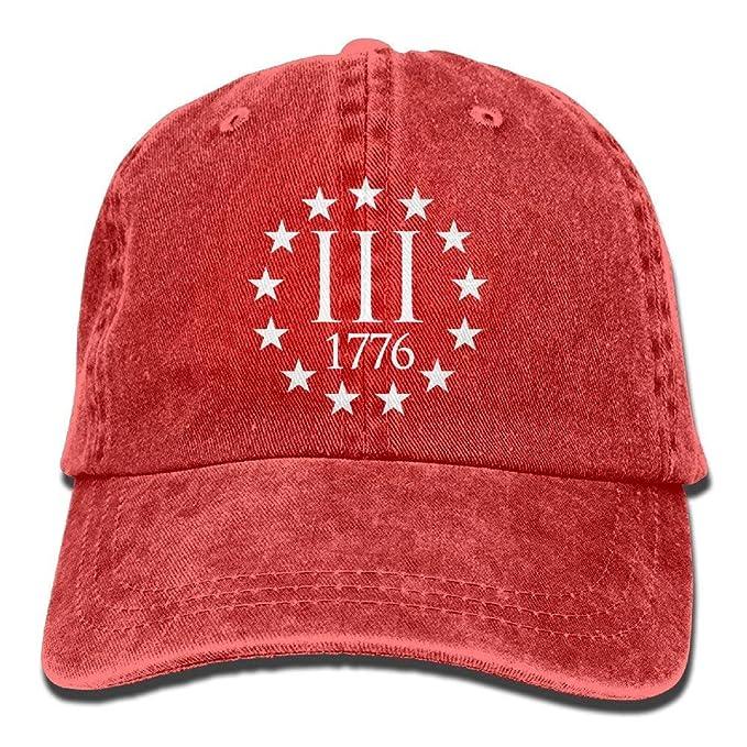 87c299d5036 WAZH Classic Baseball Caps Three Percenter 1776 Symbol Retro Jeans ...