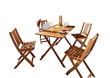 SAM® Salon de Jardin Holstebro, 5 pièces, en Bois d\'acacia, 1 x ...