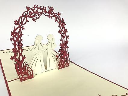 Tarjeta de felicitación de boda con diseño de pareja ...