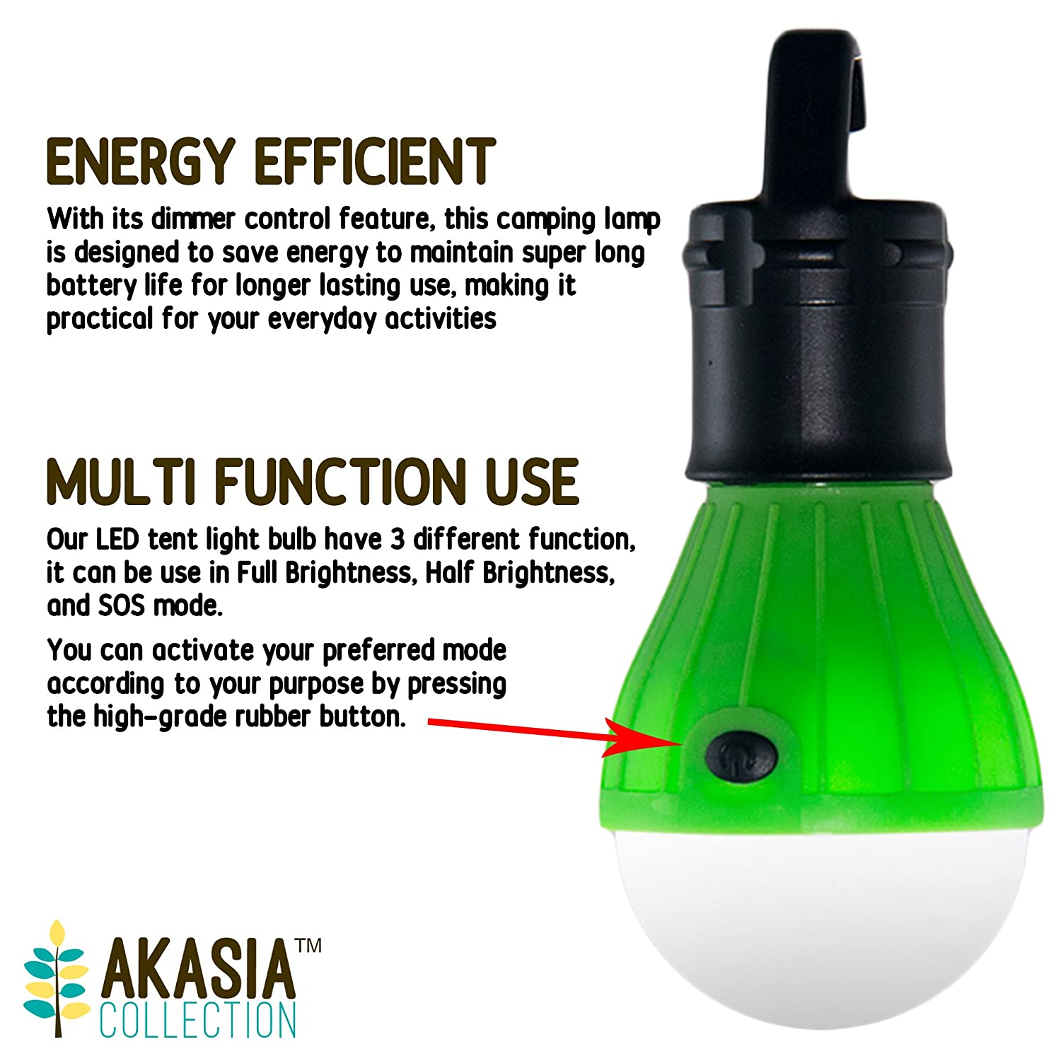 Amazon.com  Waterproof Portable Outdoor LED Hanging Tent Light Bulb for C&ing Backpacking Hiking Emergency Lighting Battery Powered Outdoor Lights [4 ...  sc 1 st  Amazon.com : led tent lamp - memphite.com