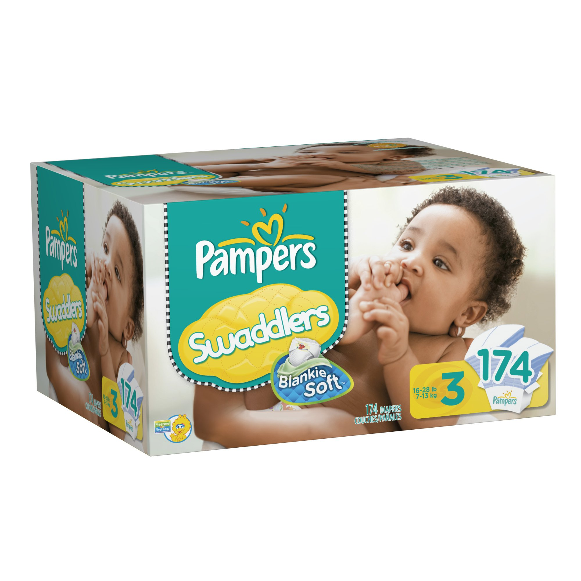 Pampers Swaddlers Diapers, Size 3, 174 Count product image