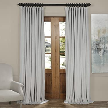 VPCH-VET160401-96 Signature Doublewide Blackout Velvet Curtain,Reflection Grey,100 X 96
