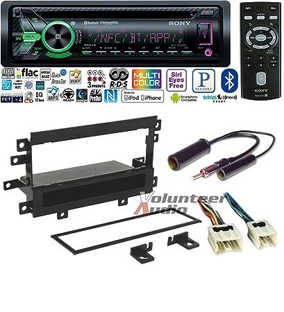 amazon com: volunteer audio mex-gs620bt double din radio install kit with  bluetooth, sirius xm ready, cd player fits 1995-1997 nissan pickup:  automotive
