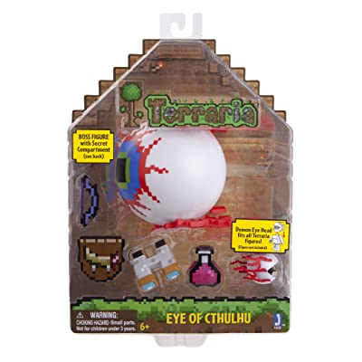 Terraria Deluxe Boss Pack: Eye of Cthulhu Boss Action Figure with Accessories: Toys & Games