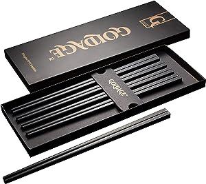 Goldage Fiberglass Dishwasher-safe Chopsticks - Japanese Minimalism - Koi Fish (5 Pairs)
