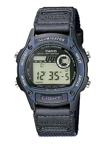 CASIO Collection - Reloj Digital de Cuarzo con Correa Textil para Hombre (cronómetro, Alarma, luz, Sumergible a 50 m), Color Azul Oscuro: Amazon.es: Relojes