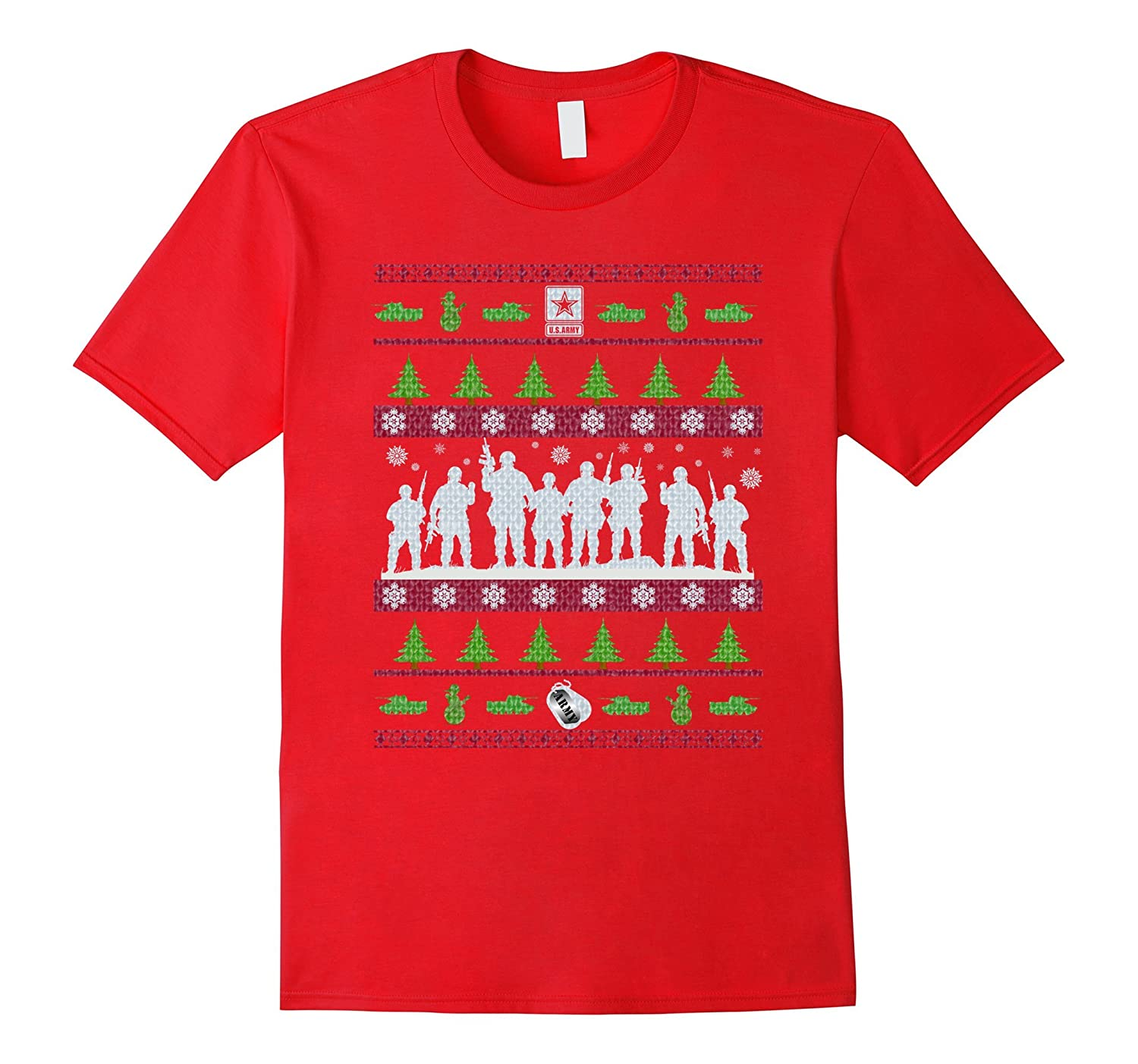 US Army Ugly Christmas Sweater Military T-Shirt-Cool T-Shirt ...