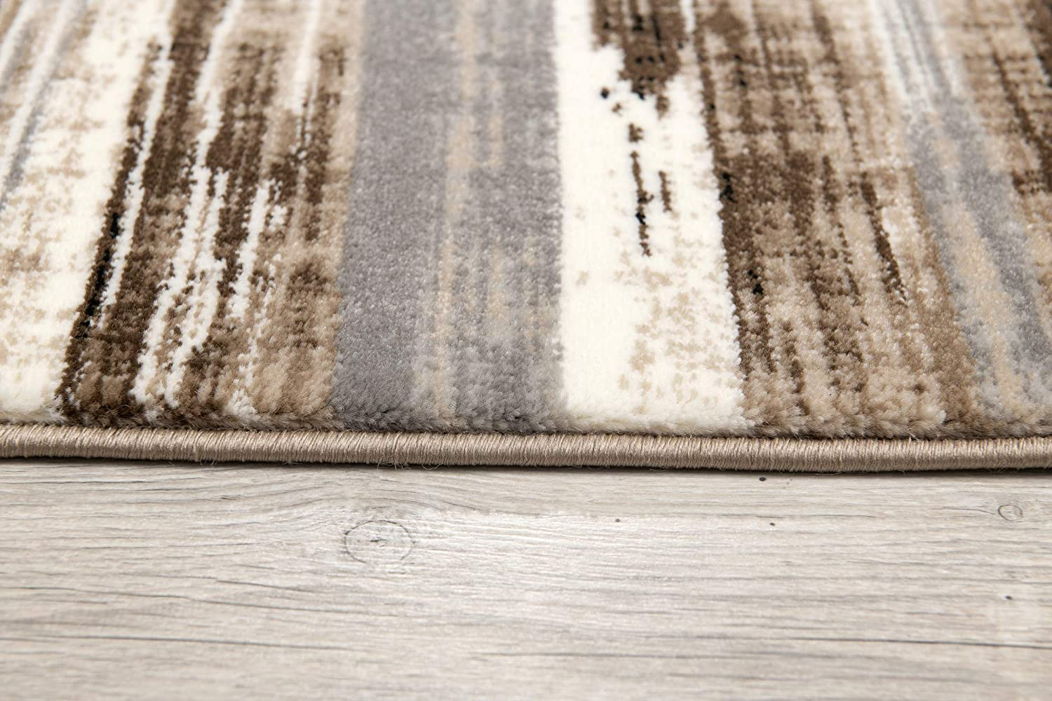 23 X 4 2x4 Feet Abstract Rug Branch Montage Modern Entrance Area Rug Beige