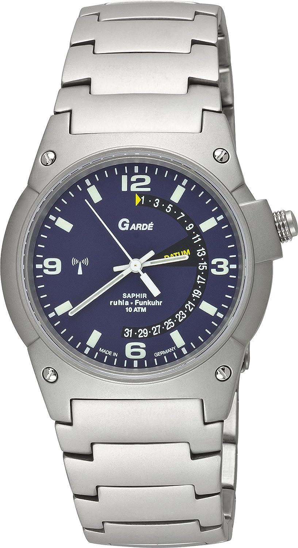 Garde Uhren aus Ruhla Funkuhr mit Saphirglas Herrenuhr 87-38M Date