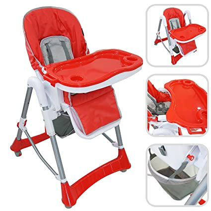 Chaise 60 X 75 MatériauPp Déployée105 Todeco Rouge BébéPliante Taille Haute Bébé Cm Pour H9YE2WID