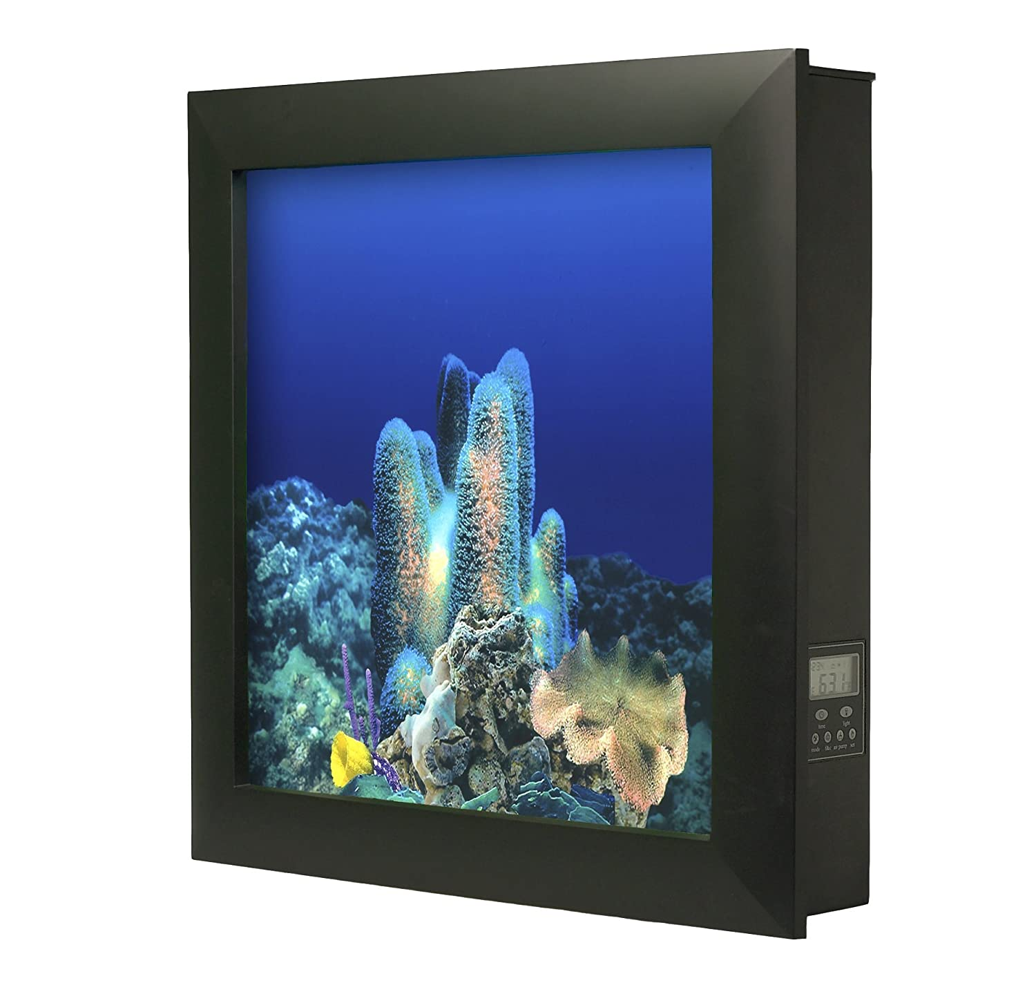 Amazon aquavista 500 wall mounted aquarium with coral reef amazon aquavista 500 wall mounted aquarium with coral reef background black frame saltwater aquarium pet supplies jeuxipadfo Images