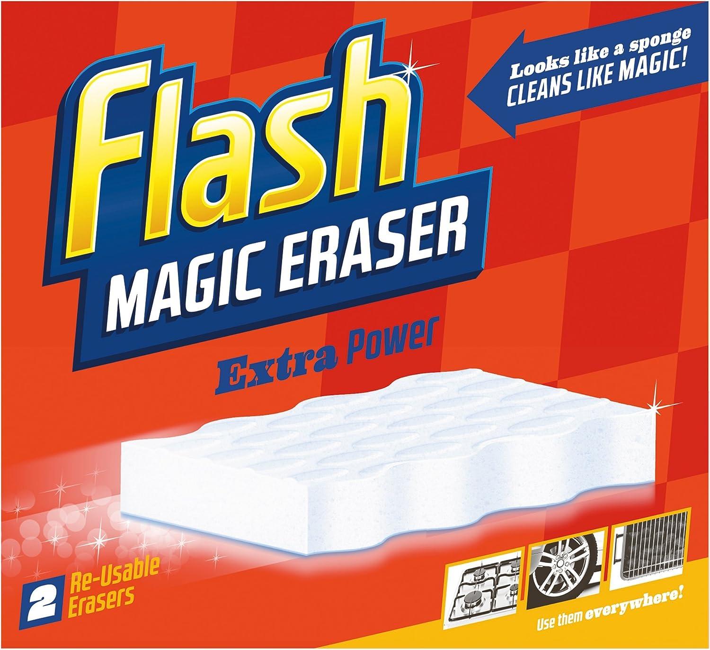 Lot de 2 Magic Sponge Eraser Puissance Supplémentaire tache /& Éraflures Remover