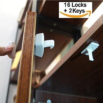 60cef21efba Baby Proof Magnetic Cabinet Locks Child Safety Magnetic Locks Child Proof  Cupboard Baby Locks Magnet Drawer