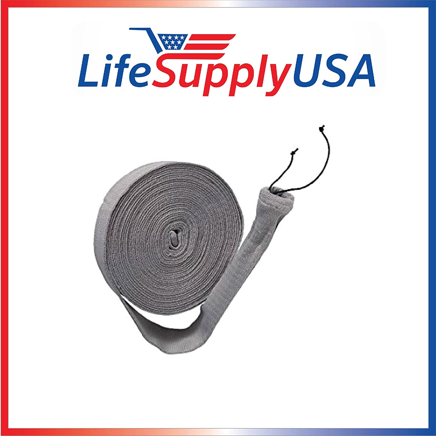 30 ft Central Vacuum Knitted Hose Sock Cover with Application Tube (30 feet length), by LifeSupplyUSA AX-AY-ABHI-89663
