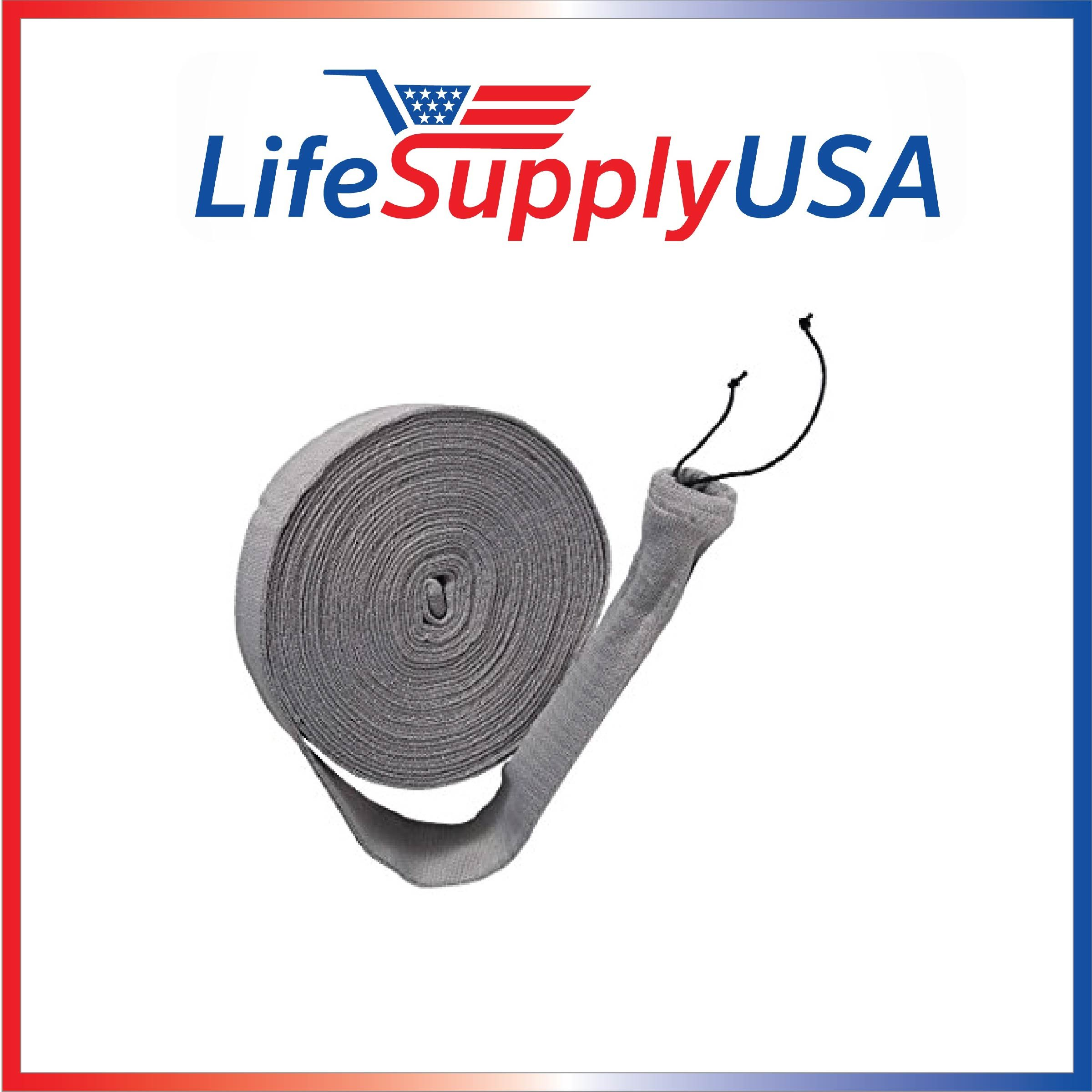 LifeSupplyUSA 30 ft Central Vacuum Knitted Hose Sock Cover with Application Tube (30 feet Length)