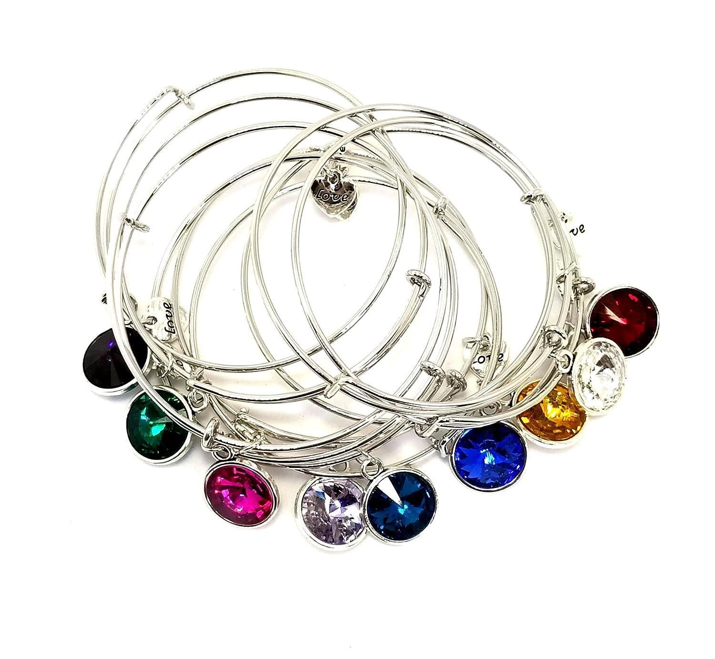 Maison Terre Natural Products Adjustable Birthstone Love Bracelets