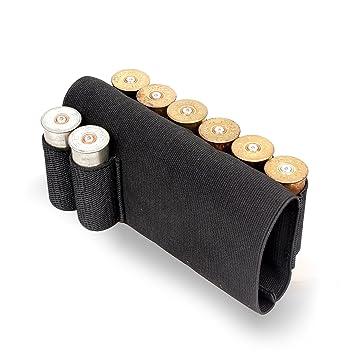 Buttstock Rifle Stock Shotgun Shell Cartridge Holder Cheek Rest