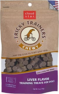 product image for Cloud Star Chewy Liver Tricky Trainers Dog Treats for Training, 5 oz Bag
