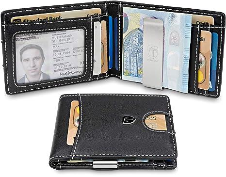 """TRAVANDO Billetero para hombre pequeño con protección RFID """"SEATTLE"""" Portatarjetas de crédito con"""