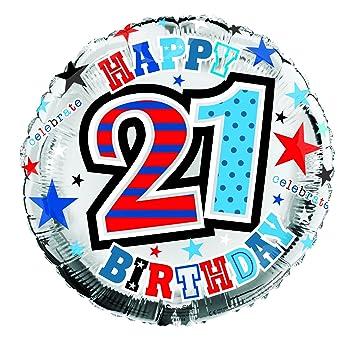 Amazon 21st Birthday Decorations Happy Foil Balloon