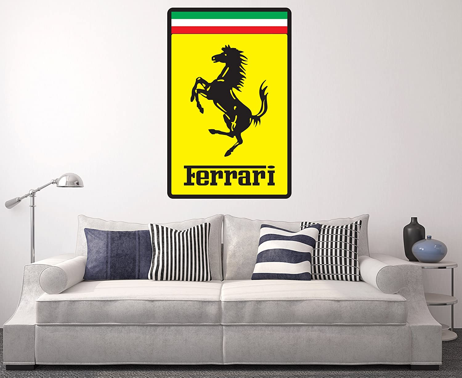 Amazon.com: Ferrari Wall Decal Sport Car Logo Home Decor Art Sticker ...