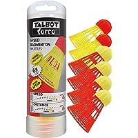 Talbot Torro Speed-Badminton Shuttles, 6 Stück (4 Schnelle Racer und 2 langsame Starter), 490180