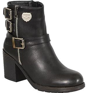 4f0e1be380bc Milwaukee Performance Women s Triple Buckle Side Zip Boots with Platform  Heel (Black