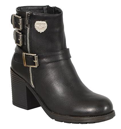 4db0064272d0 Amazon.com  Milwaukee Performance Women s Triple Buckle Side Zip Boots with Platform  Heel (Black