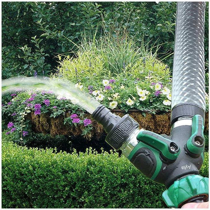 Ayla-2way - Manguera de Agua para jardín con Separador, sin Fugas, sin Grietas, fácil de Instalar, Apta para Patios, césped y Jardines: Amazon.es: Jardín