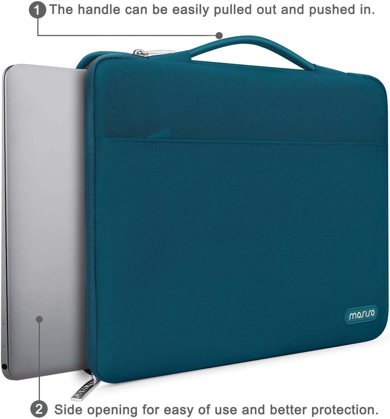 360 Protection Laptop Briefcase Sac en Polyester avec Ceinture Arri/ère pour Valise MacBook Pro Retina Surface Laptop 2 2018 MOSISO Housse Compatible avec MacBook Air 13-13.3 Pouces Bleu Marin