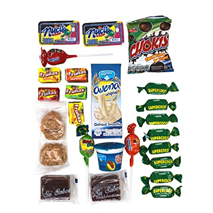 Colombian Snacks Sampler Variety Box - Cookies, Chips & Candies Assortment Pack - Delicious Gift Box - College Care Package (Mecato+Cafe): Amazon.com: ...
