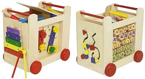 BEEBOO - Carrito de actividades en madera, 37 x 27 x 35 cm [importado