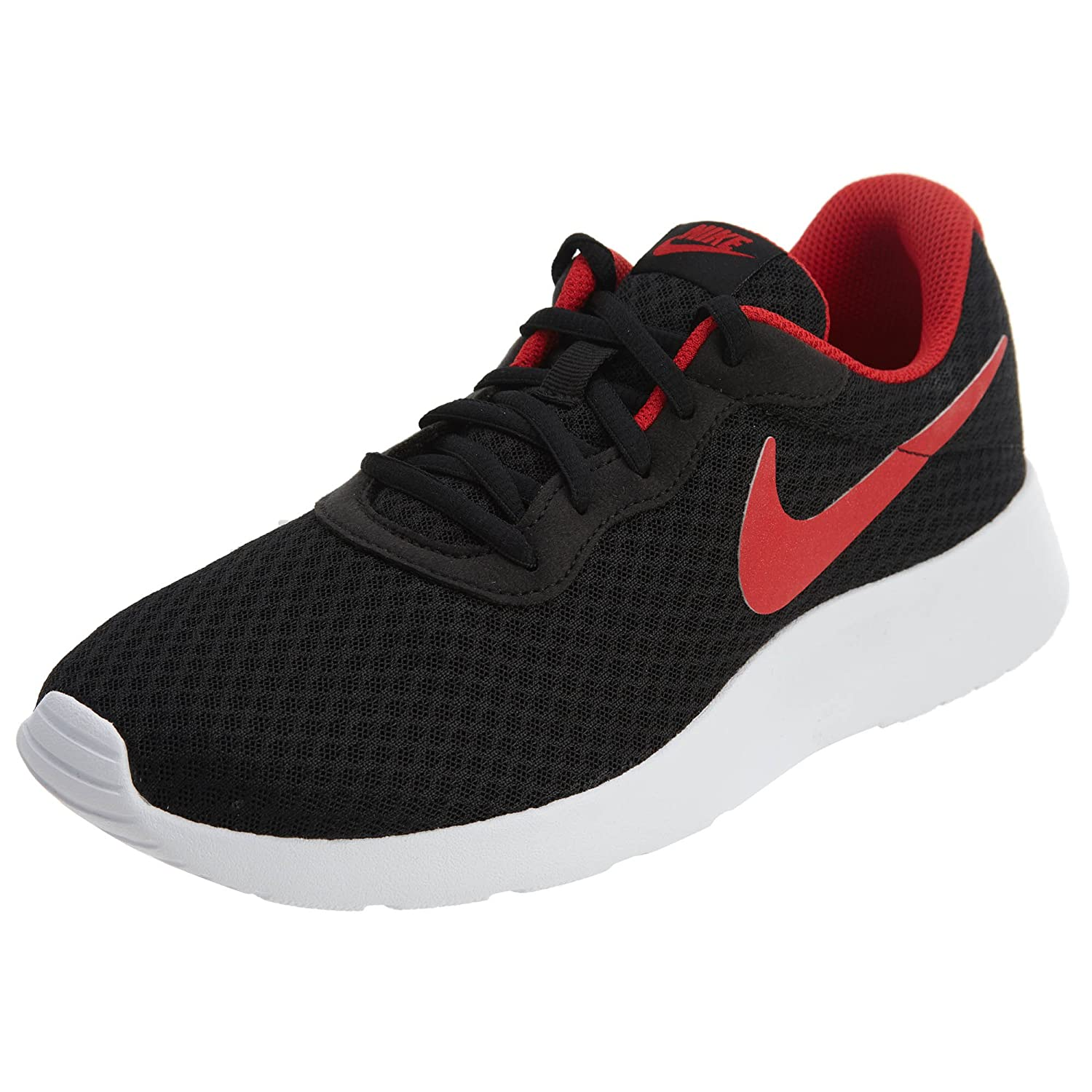 watch 01a10 8069a Amazon.com   Nike Men s Tanjun Black   University Red-white Running Shoe 11  Men US   Road Running