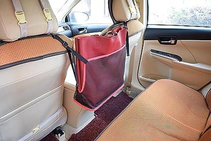 Amazon Com Rolscaler Car Mesh Organizer Handbag Purse Holder Large
