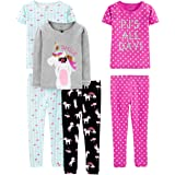 Pack de 6 Spotted Zebra 6-Piece Snug-fit Cotton Pajama Set Unisex ni/ños