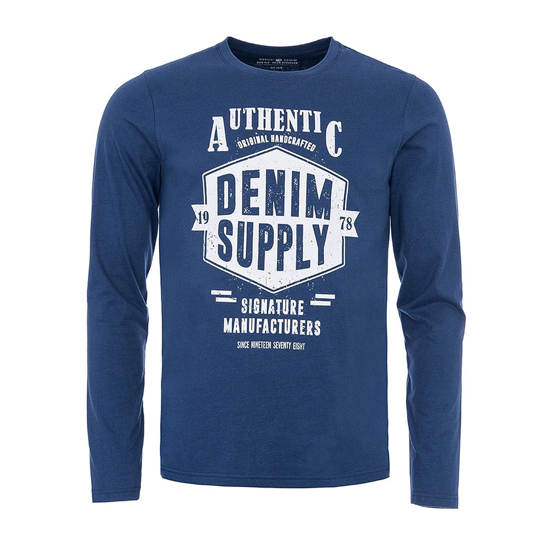 Tiffosi 10017877-750 Camiseta de Manga Larga, Azul (Blue), X-Large (Tamaño del Fabricante:XL) para Hombre: Amazon.es: Ropa y accesorios