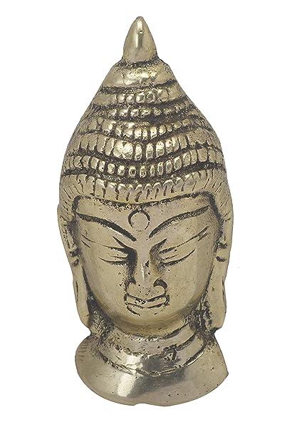 Amazon Com Bharat Haat Buddha Face Idol In Small Size Handicrafts