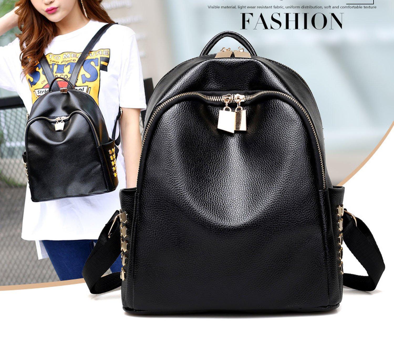 shoulder bag rivets shoulder bag simple multicolor backpack small bag,black by Toping Fine basic-multipurpose-backpacks (Image #3)