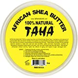Taha African Shea Butter Cream – 100% Pure, Organic, Unrefined, and Raw, Yellow – For Skin and Stretchmarks – 8oz