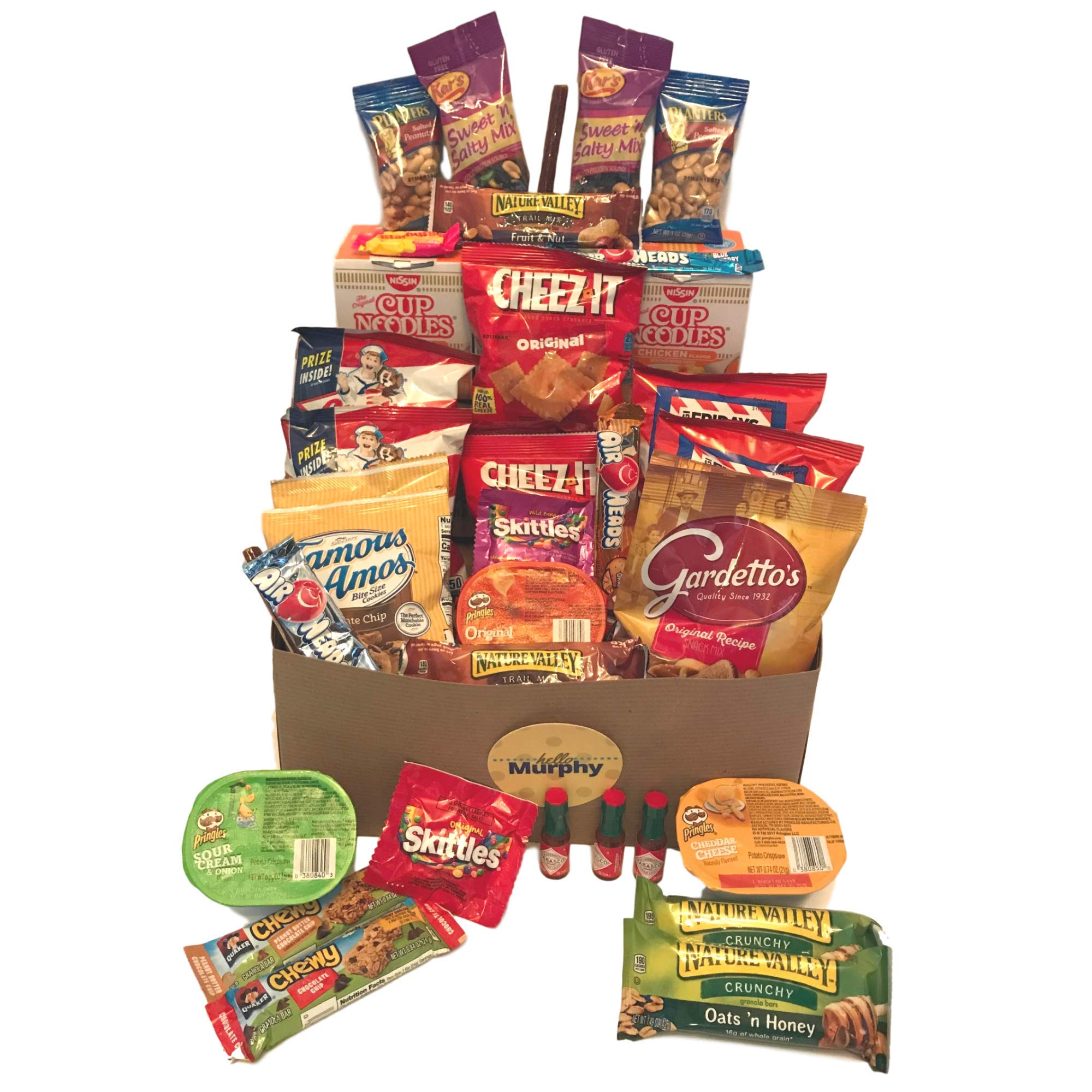 Care Package Variety Snack and Gift Box | 35 Assorted Snacks, Chips, Cookies, and Candy by Murphy Snack Packs