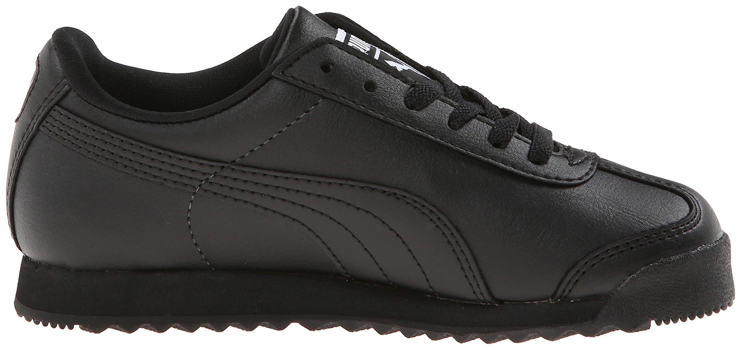 PUMA Roma Basic JR Sneaker , Black/Black, 1 M US Little Kid by PUMA (Image #7)