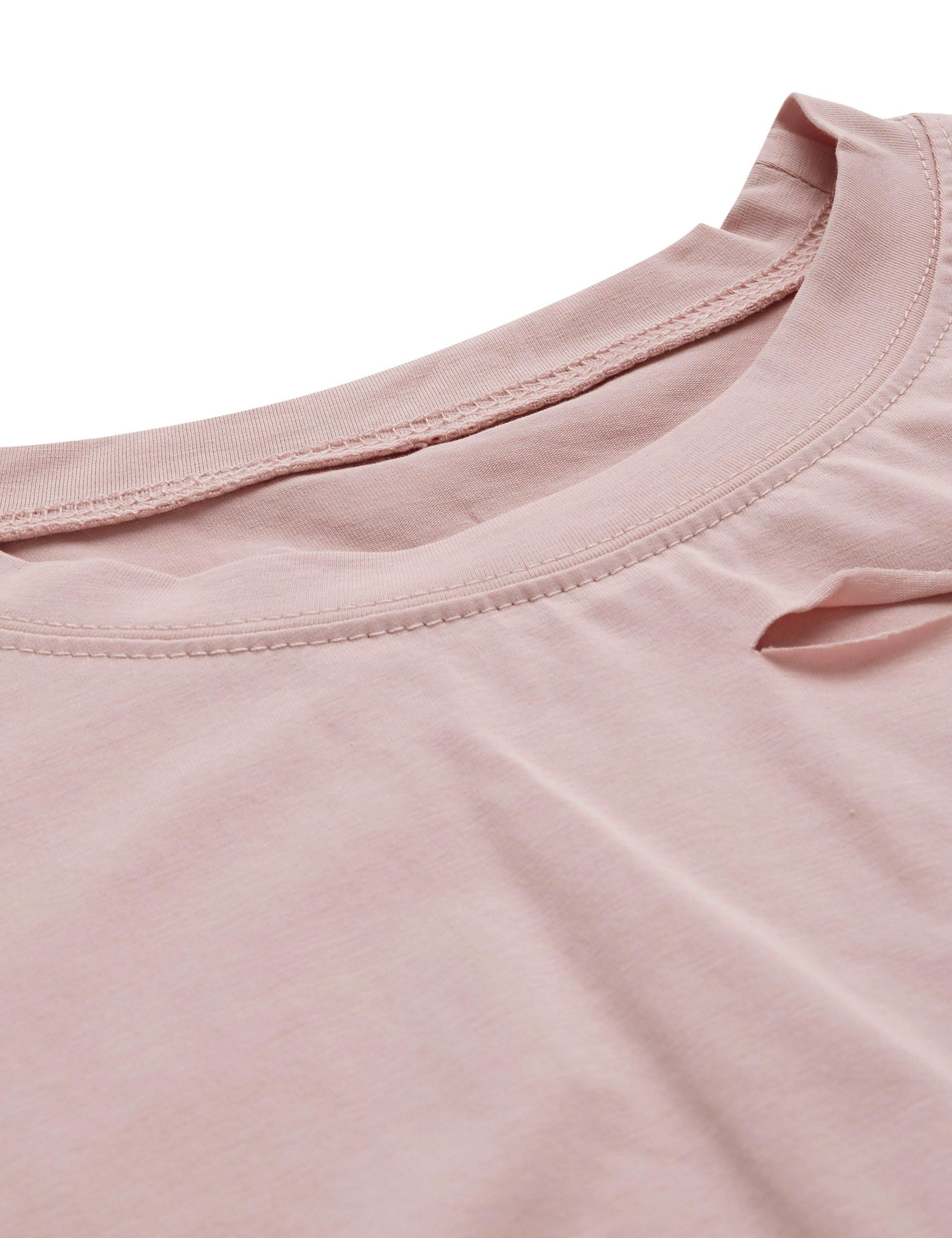 7928ff4612d1c SweatyRocks Women s Summer Short Sleeve Tee Distressed Ripped Crop T-shirt  Tops (Medium